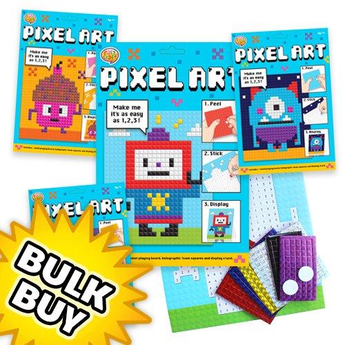 Pixel Art Craft Kit X 12 Kids Stuff For Less