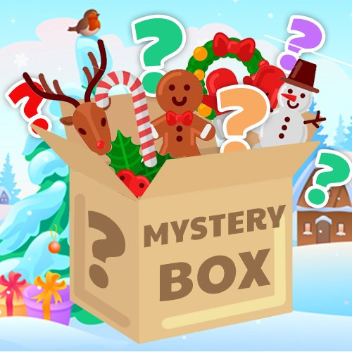 A Christmas Mystery.Crazy Christmas Mystery Box 40 Items